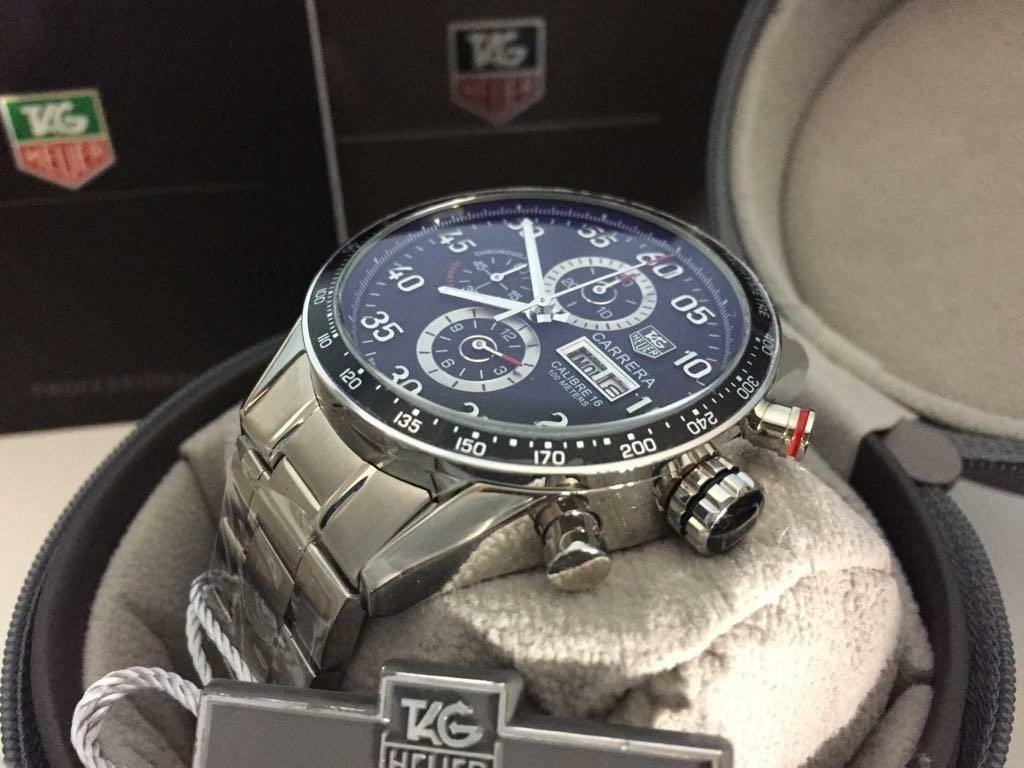 new swiss tag heuer carrera calibre 16 day date stainless. Black Bedroom Furniture Sets. Home Design Ideas