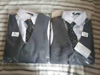 2x boys grey suits age 7