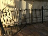 Black Steel Railings (2 Piece) with 2 posts