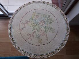small vintage decorative round table