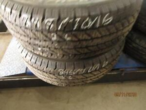 245/70R16 2 ONLY USED COOPER A/S TIRES