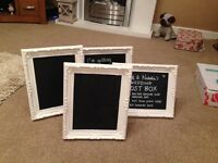 4x framed blackboards! Used for wedding, excellent conditions and can be used portrait or landscape
