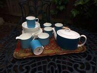Susie Cooper Wedgwood Tea Set: Kingfisher; Blue