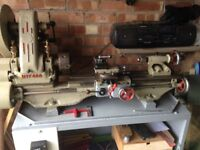 Myford ML7, 240 volt Metal Lathe in good clean condition