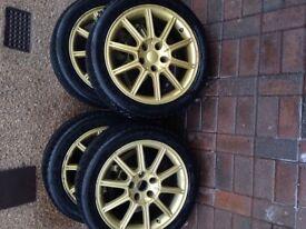 Subaru Impreza sti wheels