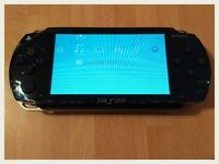 PSP Original black - with 3 games, charger and case