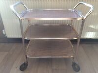 Bargain Retro Vintage Gold Effect Hostess Trolley 3 Tier Tea Cocktail Drinks Removable Drinks Tray