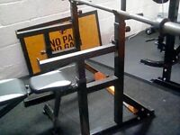 Power tower plus bench squat rack