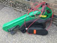 Electric leaf blower and mulching