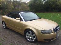 2004 Audi A4 Cabriolet 1.8 T Sport Cabriolet Low miles Fsh long mot