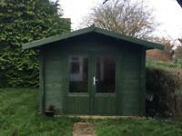 Dunster House Log Cabin Garden Shed