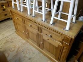 Pine carved sideboard