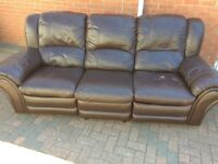 Sofa real leather electric recliner Can deliver