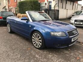 2004 AUDI A4 1.8 Turbo. CABRIOLET CONVERTIBLE. FULLY ELECTRIC ROOF. HEATED LEATHER. 18'' ALLOYS.
