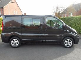 FINANACE ME!! NO VAT!! 2012 Renault Trafic sport Swb 6 seat crew van with only 82k and Full history