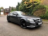 MERCEDES CLS 250 DIESEL AUTO - SAT NAV - FULL MERCEDES SERVICE HISTORY - FULL BLACK LEATHER