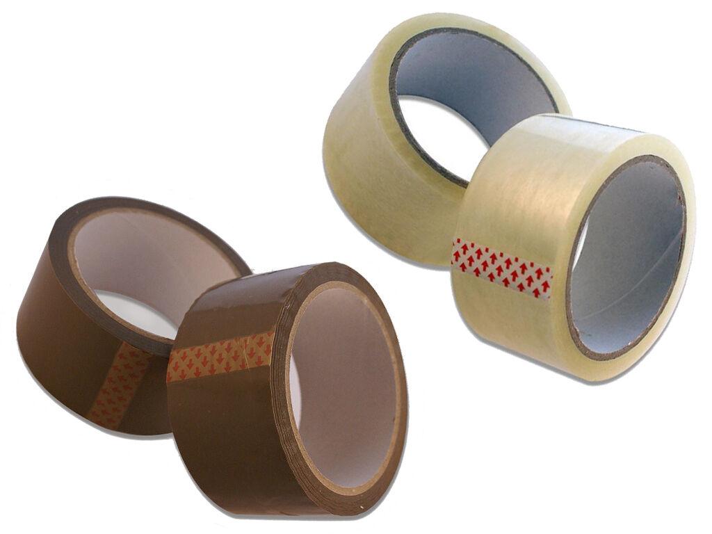 Klebeband 24 Rollen Packband Paketband Paketklebeband Echte 66m Braun Posten