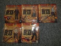 The Walking Dead Series 1 Set Figures Including Bloody Black And White Rick BNIB Daryl Dixon Carded