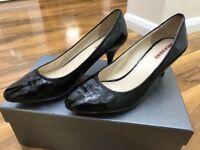 Prada leather heels 5.5uk boxed