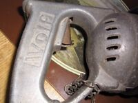 vintage wolf heavy duty drill with 1/2 chuck and key
