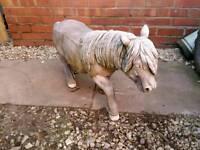 Garden ornament shetland pony