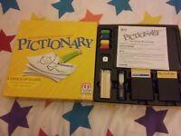 Board games: pictionary, game of life, cluedo junior, nab-it, kerplunk