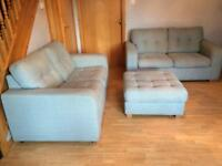 2 Two Seaters and Footstool