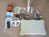 Wii Fit bundle + Balance board, accessories and instructions.