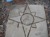 Paving Patio Feature Star Design Sets Coventry 2 Available.