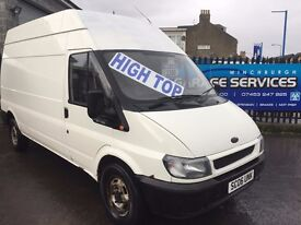 FORD TRANSIT 350 2.4TDI HIGH TOP LWB GREAT CONDITION PLY LINED FULLY SERVICED YEARS MOT REMOVAL
