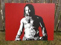Lennox Lewis hand painted canvas