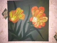 Art, flowers, handmade