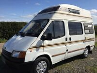 ford transit frontier camper,4 berth,only 63k with £3000 recently spent,4 owners,shower,hot water