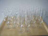20 CHAMPAGNE Sparkling Wine Prosecco FLUTES GLASSES ready for party celebration
