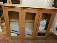 Large Oak Display Cabinet Brand New