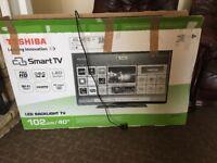"Tv toushiba smart 40"" tv repair or spare"