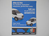 man and van , angus based but cover all uk,
