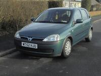For Sale - Vauxhall Corsa Club 16v 1.2cc 2003