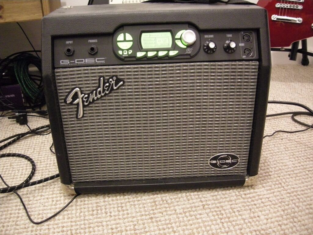 fender g dec modelling guitar amplifier amp multi effects drum machine looper fx marshall vox. Black Bedroom Furniture Sets. Home Design Ideas