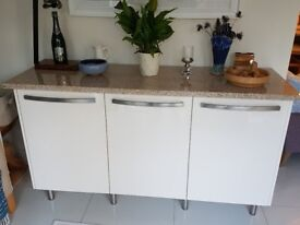 Modern style Sideboard with beautiful solid Granite top
