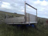 Pickup back or trailer