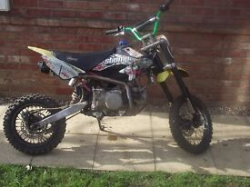 Stomp 140cc good runner i would swap for the right bike or sell. i will take £400 cash