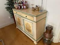Antique French cupboard hand painted
