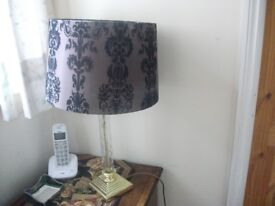 Lamp and Shade - Brushed Brown Velvet