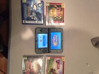 3ds xl 32gb month old with 5 games