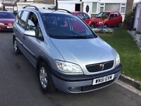 Vauxhall zafira 1.8 elagance 2001 facelift model 5 door 7 seat mpv people carrier mot Feb tax