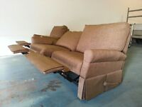 FABRIC RECLINING SET SOFA / SUITE / SETTEE & RECLINER SWIVEL ROCKING ROCKER CHAIR DELIVERY AVAILABLE