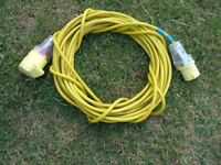 14 Metres Yellow 110 volt Cable Extension Weymouth