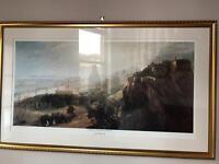 Large framed Edinburgh print