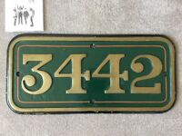 3442 Brass Sign (Very Heavy)